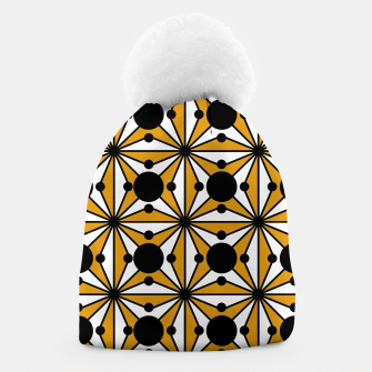 Thumbnail image of Abstract geometric pattern - bronze, black and white. Beanie, Live Heroes