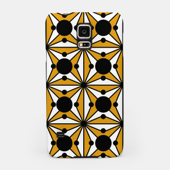 Thumbnail image of Abstract geometric pattern - bronze, black and white. Samsung Case, Live Heroes