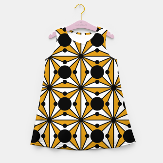 Miniature de image de Abstract geometric pattern - bronze, black and white. Girl's summer dress, Live Heroes