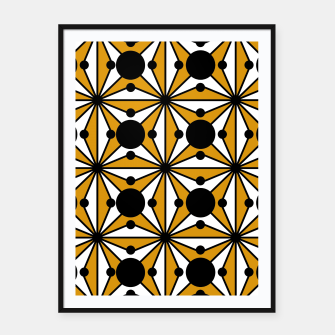 Miniature de image de Abstract geometric pattern - bronze, black and white. Framed poster, Live Heroes