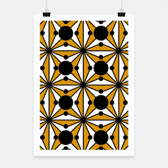 Miniature de image de Abstract geometric pattern - bronze, black and white. Poster, Live Heroes