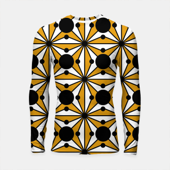 Miniature de image de Abstract geometric pattern - bronze, black and white. Longsleeve rashguard , Live Heroes