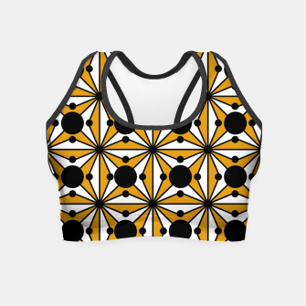 Thumbnail image of Abstract geometric pattern - bronze, black and white. Crop Top, Live Heroes