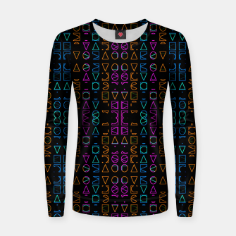 Thumbnail image of Neon Geometric Print Pattern Women sweater, Live Heroes