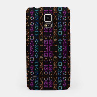 Thumbnail image of Neon Geometric Print Pattern Samsung Case, Live Heroes