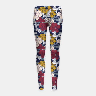 Thumbnail image of Pattern Asian 77 Leggings para niña, Live Heroes