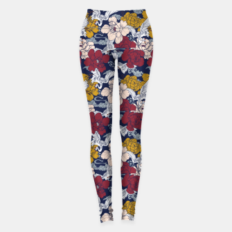 Miniatur Pattern Asian 77 Leggings, Live Heroes