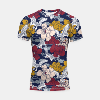 Thumbnail image of Pattern Asian 77 Shortsleeve rashguard, Live Heroes