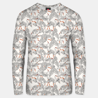 Flying flock of crane birds Sudadera unisex Bild der Miniatur