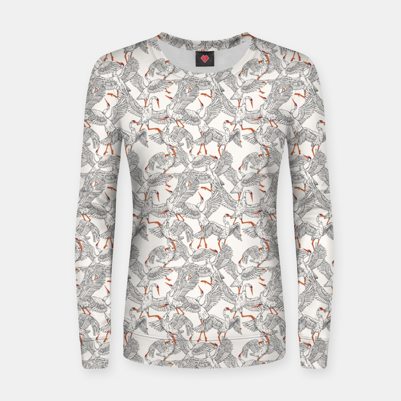 Image of Flying flock of crane birds Sudadera para mujeres - Live Heroes