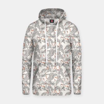 Flying flock of crane birds Sudadera con capucha Bild der Miniatur