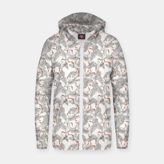 Thumbnail image of Flying flock of crane birds Sudadera con capucha y cremallera , Live Heroes