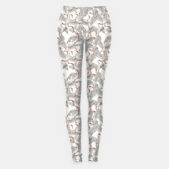 Flying flock of crane birds Leggings Bild der Miniatur