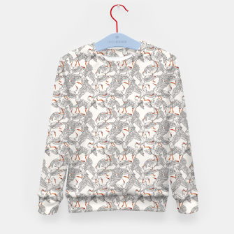 Miniature de image de Flying flock of crane birds Sudadera para niños, Live Heroes