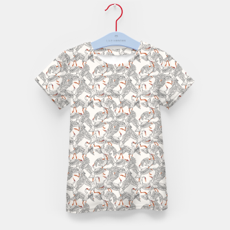 Flying flock of crane birds Camiseta para niños Bild der Miniatur