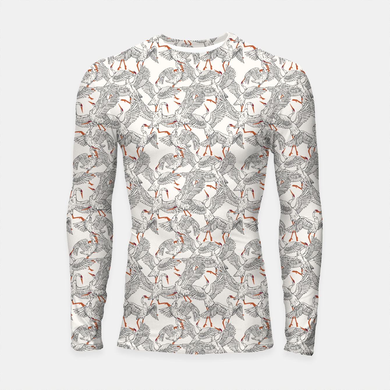 Foto Flying flock of crane birds Longsleeve rashguard - Live Heroes