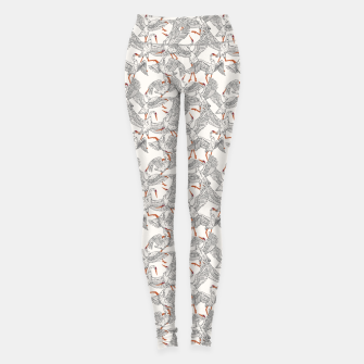 Miniature de image de Flying flock of crane birds Leggings, Live Heroes