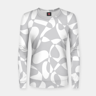 Thumbnail image of Abstract pattern - gray and white. Women sweater, Live Heroes