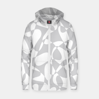 Thumbnail image of Abstract pattern - gray and white. Zip up hoodie, Live Heroes