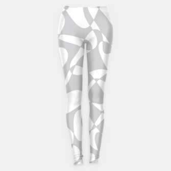 Thumbnail image of Abstract pattern - gray and white. Leggings, Live Heroes