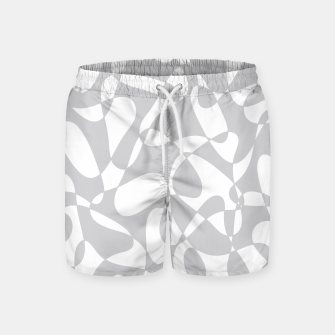 Thumbnail image of Abstract pattern - gray and white. Swim Shorts, Live Heroes