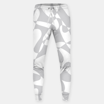 Thumbnail image of Abstract pattern - gray and white. Sweatpants, Live Heroes