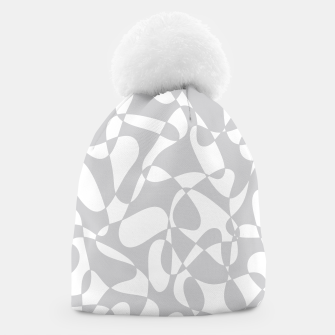 Thumbnail image of Abstract pattern - gray and white. Beanie, Live Heroes