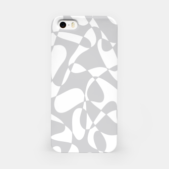 Thumbnail image of Abstract pattern - gray and white. iPhone Case, Live Heroes