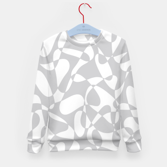 Miniature de image de Abstract pattern - gray and white. Kid's sweater, Live Heroes