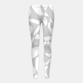 Thumbnail image of Abstract pattern - gray and white. Girl's leggings, Live Heroes