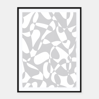 Thumbnail image of Abstract pattern - gray and white. Framed poster, Live Heroes