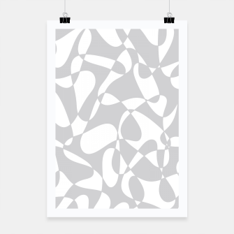Miniature de image de Abstract pattern - gray and white. Poster, Live Heroes