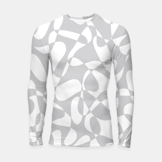 Thumbnail image of Abstract pattern - gray and white. Longsleeve rashguard , Live Heroes