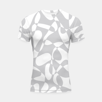Thumbnail image of Abstract pattern - gray and white. Shortsleeve rashguard, Live Heroes