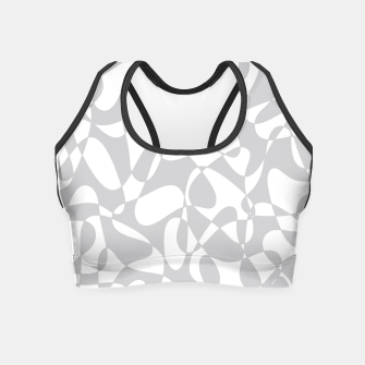 Thumbnail image of Abstract pattern - gray and white. Crop Top, Live Heroes