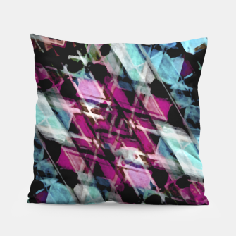 Matrix Grunge Print Pillow obraz miniatury