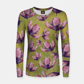 Watercolour flowers Sudadera para mujeres miniature