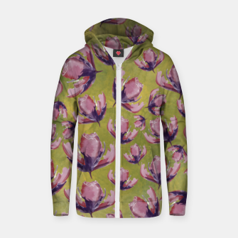 Thumbnail image of Watercolour flowers Sudadera con capucha y cremallera , Live Heroes