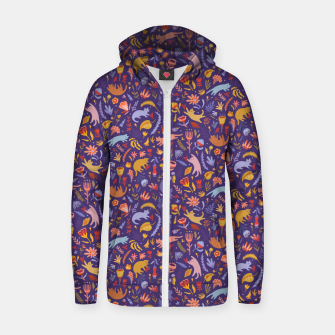 Miniatur Candy Cats in the Magic Garden Zip up hoodie, Live Heroes