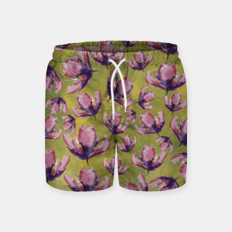 Watercolour flowers Pantalones de baño miniature