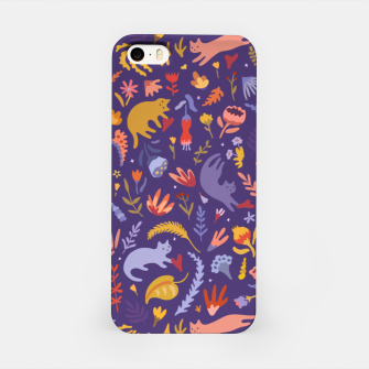 Miniatur Candy Cats in the Magic Garden iPhone Case, Live Heroes