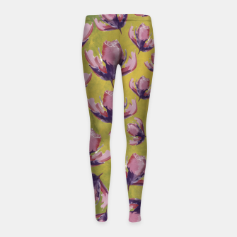 Watercolour flowers Leggings para niña miniature