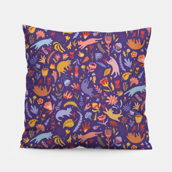 Miniatur Candy Cats in the Magic Garden Pillow, Live Heroes