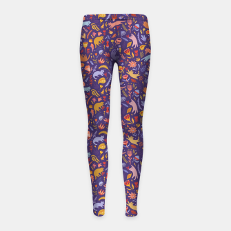 Miniatur Candy Cats in the Magic Garden Girl's leggings, Live Heroes