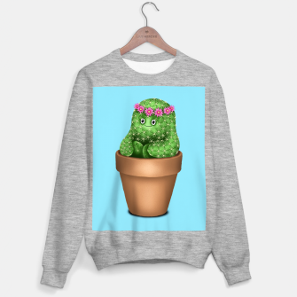 Cute Cactus (Blue Background) Sweater regular miniature