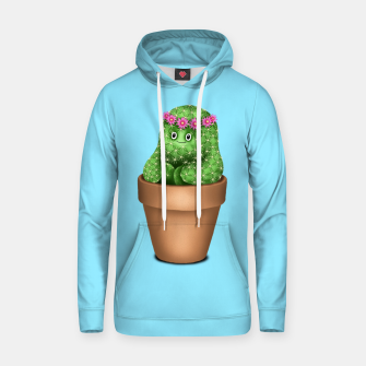 Thumbnail image of Cute Cactus (Blue Background) Hoodie, Live Heroes