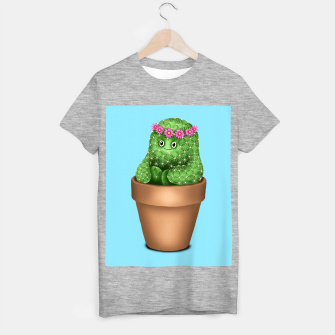Thumbnail image of Cute Cactus (Blue Background) T-shirt regular, Live Heroes