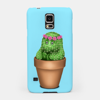 Thumbnail image of Cute Cactus (Blue Background) Samsung Case, Live Heroes