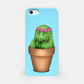 Miniature de image de Cute Cactus (Blue Background) iPhone Case, Live Heroes