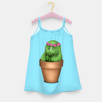 Miniature de image de Cute Cactus (Blue Background) Girl's dress, Live Heroes